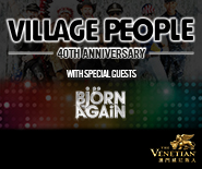 VILLAGE PEOPLE 40th Anniversary Tour With Special Guests BJORN AGAIN