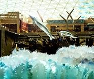 「Odyssey」飛天海洋魚群裝置
